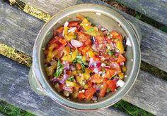 Paprika salsa van de BBQ