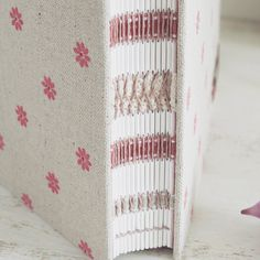 French link stitch and long stitch hand sewn by Dani Fox Books #bookbinding #bookarts #handmade