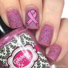 This month Glisten & Glow has a special trio + cuticle pen out in support of Breast Cancer Awareness and donating to help those who are dealing with Breast Cancer. Nails Design With Rhinestones, Art Friend, Nail Blog, Cuticle Oil, Us Nails, Nail Art Galleries, Nails Magazine, Cool Nail Art, Nail Artist