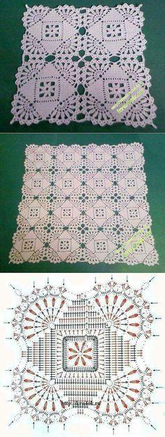 Transcendent Crochet a Solid Granny Square Ideas. Inconceivable Crochet a Solid Granny Square Ideas. Filet Crochet, Crochet Doily Diagram, Crochet Amigurumi, Crochet Doily Patterns, Crochet Chart, Thread Crochet, Crochet Motif, Crochet Designs, Crochet Lace