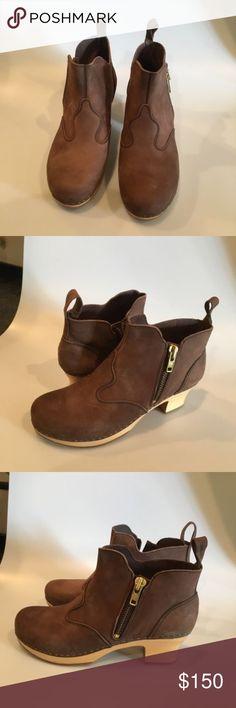 Swedish Hasbeens Zip It Clog Boot Swedish Hasbeens Zip It Victoria Chocolate Brown Suede Bootie Size 41 Swedish Hasbeens Shoes Mules & Clogs