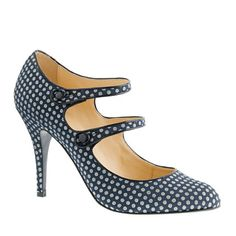 J.Crew's dotted, 2-strap Mary Janes