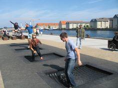 Resultado de imagen para copenhagen urban park trampoline