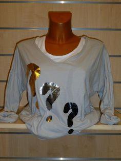Tee-shirt gris Interro Carla Giannini