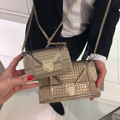 42c511360848 Diorama Metallic Micro Cannage Bag. Dior Mini BagDior HandbagsDior ...
