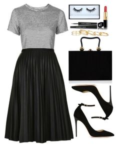 """Untitled #772"" by bearnadette ❤ liked on Polyvore featuring Topshop, Jimmy Choo, Kendra Scott, Dolce&Gabbana and Chanel"