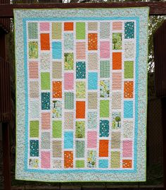 Happier Bricks Quilt- I don;t like all the colors but this could be an AWESOME bedspread in a more monochromatic color scheme