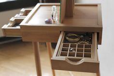 Wooden Dressing table 'Molbert' by Ana Tavartkiladze. Interior Design, Home Decor, Interior Styling, Home Inspiration, Home Styling, Interior Trends, Design Trends, Design Furniture, Interior Accessories, Design for your Home, Decorating Ideas, Interior Design Blog, Living, Styling, Design. http://whatiwouldbuy.com/DRESSING+TABLE+DESIGN