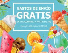Nueva promoción de Gastos de envío GRATIS hasta el 11 de Agosto en compras a partir de 70€.  http://elblogdeperfumesrioja.com/gastos-de-envio-gratis-8/