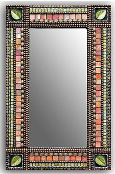 Mirror Mosaic, Mosaic Art, Mosaic Glass, Mirror Shop, Diy Mirror, Mirror Crafts, Mosaic Projects, Stained Glass Projects, Mosaic Ideas