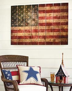 Show your patriotism year round with our Rustic Flag Wall Decor, especially for 4th of July decorations!