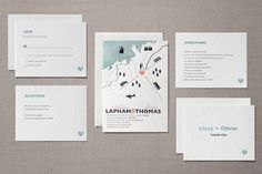 Destination Letterpress Wedding Invitations