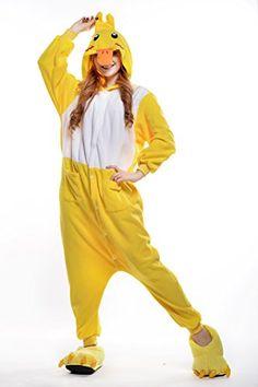 MLT Lovely Cartoon Sleepsuits Costume Cosplay Onesie Pajamas M Yellow Duck * BEST VALUE BUY on Amazon #Onesies