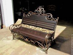 Купить Кованая скамейка - черный, художественная ковка, кованые изделия, Кованый, кованая мебель