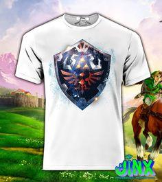 Playera o Camiseta Zelda Shield -Jinx