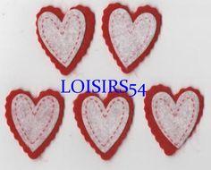 Coeur feutrine rouge et blanc 35 mm autocollant lot de 5 pièces pour décoration : Déco, Customisation Textile par loisirs54 http://www.alittlemercerie.com/deco-customisation-textile/fr_coeur_feutrine_rouge_et_blanc_35_mm_autocollant_lot_de_5_pieces_pour_decoration_-5020911.html
