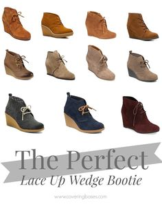 Finding the Perfect Lace Up Wedge Bootie