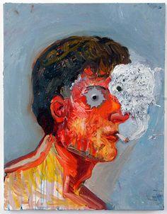 Nicole Eisenman  Smokey Eye  2006  Oil on canvas  18 x 14 in (45.7 x 35.6 cm)