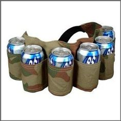 I know someone that could use one of these....Big Mouth Toys Beer Belt \  6 Pack Holster(Camo)
