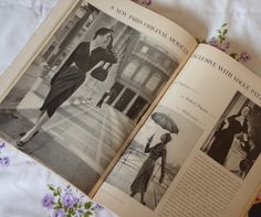 Vogue 1122 by Lanvin (on the left page) and Vogue 1127 by Robert Piguet and Vogue 1129 by Molyneux in Vogue Pattern Book, Feb-March 1951