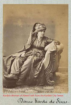 The Kurdish Woman of Alawit faith from the Kurdish city Sewas, Pascal Sebah 1875.