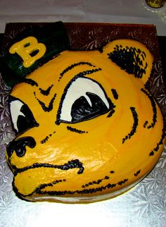 Impressive #SailorBear cake (for groom's cake or birthday) #SicEm #Baylor