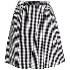 No. 21 Speranza Check Skirt (1.415 BRL) ❤ liked on Polyvore featuring skirts, mini skirts, checkerboard skirt, n°21, wrap front skirt, checkered skirt and black pleated mini skirt