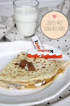 Kinderschokolade-Crêpes - Rezept - Children& chocolate crepes – Recipe: Making crepes yourself is easy with this crepes recipe - Quick Dessert Recipes, Cake Recipes, Mini Desserts, Easy Desserts, Crêpe Recipe, Recipe Making, Chocolate Crepes, Chocolate Lasagna, How To Make Crepe