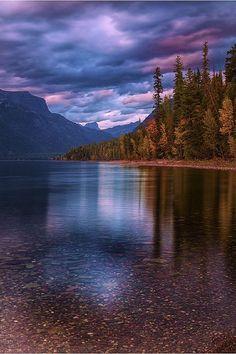 Lake McDonald Sunset, Glacier National Park, Montana, by BarbaraReyburn