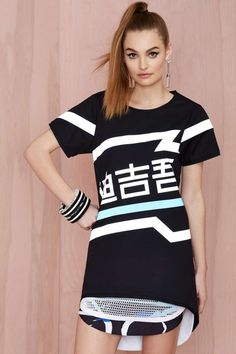 Doris Q Reflective Oversized Tee | Shop What's New at Nasty Gal