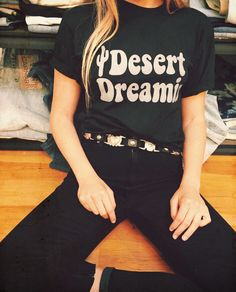 Black on black @Tamra Yowell-Brown in our Desert Dreamin tee for our stockist @elison_rd ⚡️ #electricwest