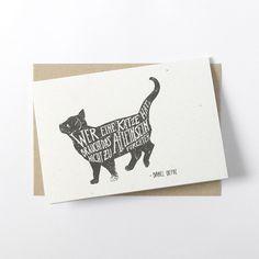 Grüße - Klappkarte - Katze Zitat Spruch - ein Designerstück von lumilarie bei DaWanda