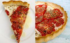 Paradicsomos, kecskesajtos pite | Fűszer és Lélek