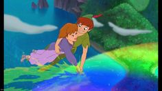 """Peter and Jane in """"Return to Neverland"""". Based on """"An Afterthought"""" the final scene of """"Peter Pan"""" by J. Disney Dvd, Walt Disney, Disney Films, Disney Characters, Fictional Characters, Disney Peter Pan, Peter Pan And Tinkerbell, Peter Pan 1953, 2 Peter"""