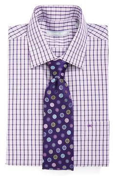 Polka dots + plaid #groomsmen