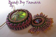 Dragon Fly Pendant Necklace, Czech Cab, Swarovski Crystal and Woven Seed Beads on Etsy, $178.00