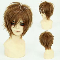 Free Shipping 28cm Light Brown Short Hair Cosplay Wigs Naegi Makoto/Kazama Chikage/Mark/Rovino Vargas/Gaara/Yanase Yuu/Syaoran-in Synthetic Wigs from Beauty & Health on Aliexpress.com | Alibaba Group