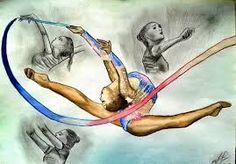 Resultado de imagen de rhythmic gymnast drawing