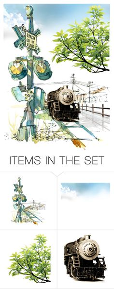 """🚉"" by mlkdmr ❤ liked on Polyvore featuring art"