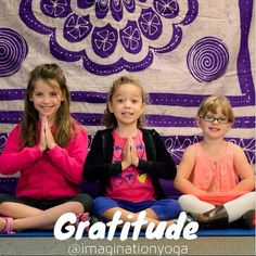 Why Kids Yoga? GRATITUDE There's a clear link between expressing + developing gratitude while practicing yoga. Research from UC Berkeley suggest that grateful young adolescents, compared to their less grateful counterparts, are happier + more optimistic, have better social support, are more satisfied with their school, family, community, friends, + themselves, + give more emotional support to others. #gratitude #grateful #thankful #yoga #whykidsyoga #kidsyoga