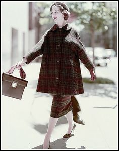 Joanna McCormick wearing a plaid 3/4 length flared coat ov… | Flickr