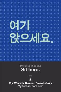 ❋ Learn Korean - Sit here (mykoreanstore.com)