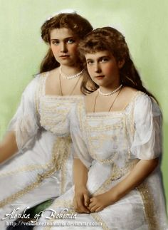 Two younger daughters of Nikolay II, Maria and Anastasia, were called by their parents as 'The Little Pair';Anastasia played a leading role in it. After Anastasia began to put on weight the girls became very similar, but Anastasia was agile and mobile. Together with her brother Alexey Anastasia got hemophilia from her mother together with the illness of bones. Anna Anderson suffered from both these deceases and used this fact as a proof she was Anastasia.