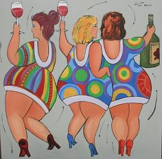 Dikke Dames Dansing Girls by Roel van artist | country: Netherlands | city: Hoogland