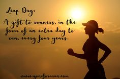 Make the most of your leap day and go for a run!