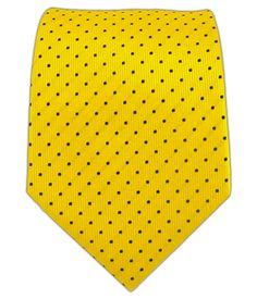 Mini Dots - Yellow/Navy (Skinny) | Ties, Bow Ties, and Pocket Squares | The Tie Bar