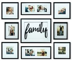 Family Wall Decor, Room Wall Decor, Frames On Wall, Wall Collage, Photo Arrangement, Family Photo Frames, Hanging Pictures, My Living Room, Wall Colors