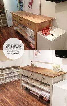 Ikea Hacking the Varde Unit — Lindsay Stephenson-- paint color: Benjamin Moore Stone Harbor