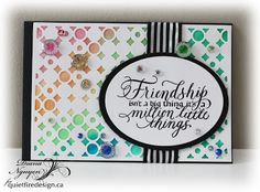 Quietfire Creations: Hug Book page:  Friendship isn't a big thing