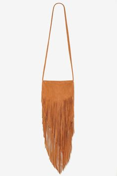 Bad Moon Rising Leather Fringe Bag - Brown - Accessories | Bags + Backpacks | Accessories | All | Fringe | Bohemian Rhapsody